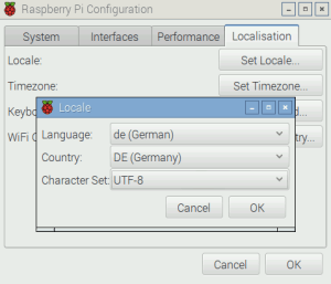 Raspberry Pi Set Locale German