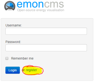 Emoncms login prompt
