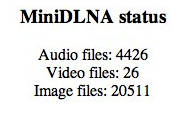 mini dlna status am raspberry pi