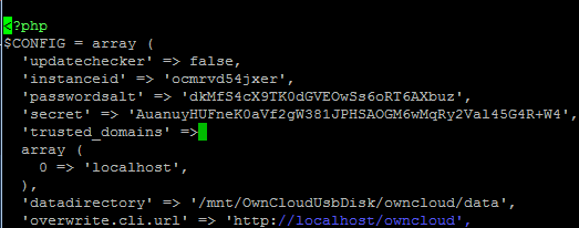 owncloud 9 trusted domains config • raspberry.tips