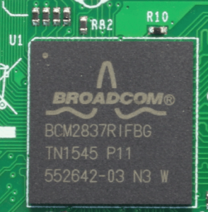 raspberry pi 3 broadcom chip