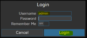 motioneye admin login