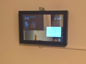raspberry pi magic mirror fertig montiert