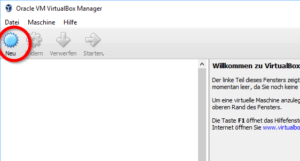 Oracle VM VirtualBox Manager